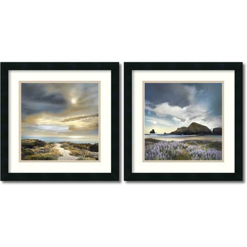 Amanti Art Sense of Direction and Sweet Illusion by William Vanscoy: 18 x 18 Print Reproduction, Set of Two
