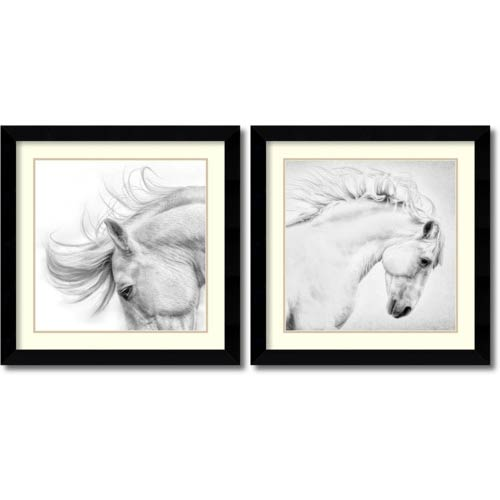 Amanti Art Flair and Attitude by Phyllis Bruchett: 24.63 x 24.63 Print Reproduction, Set of Two