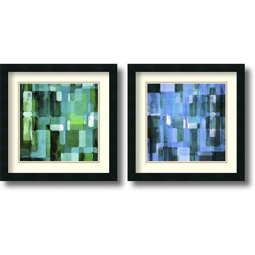 Amanti Art Modular Tiles, Cool by James Burghardt: 18 x 18 Print Reproduction, Set of Two