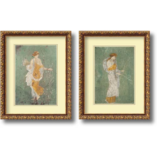 Amanti Art Primavera and Diana by Pompeian: 14.88 x 18.88 Print Reproduction, Set of Two