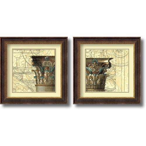 Amanti Art Architectural Inspiration by Vision Studio: 23.75 x 23.75 Print Reproduction, Set of Two