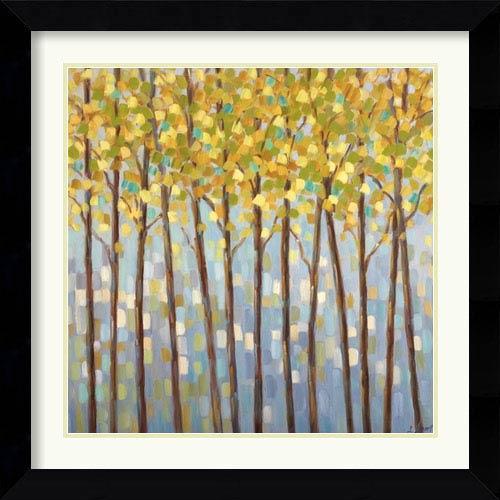 Glistening Tree Tops by Libby Smart: 26.6 x 26.6 Framed Print