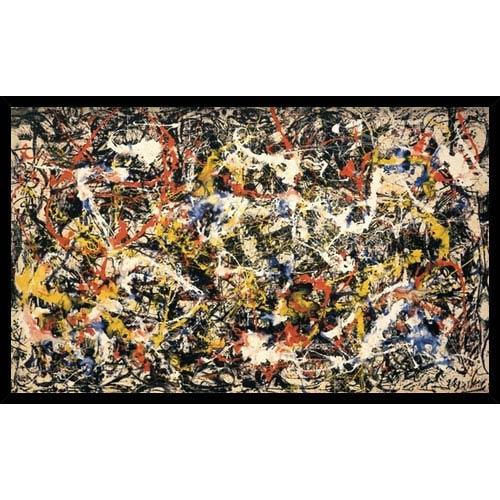 Convergence by Jackson Pollock: 37 x 22.8 Framed Print