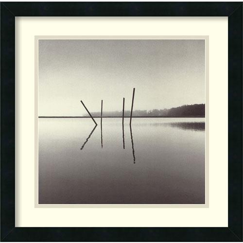Amanti Art Poles, Salt Ponds, Moss Landing, California, USA 1989 by Michael Kenna: 20 x 20 Print Reproduction