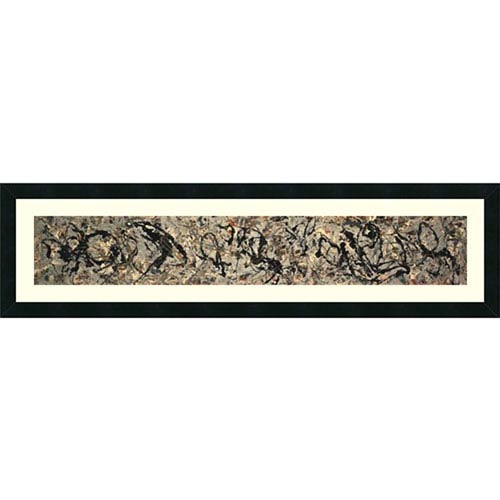 Amanti Art Number 10, 1949 by Jackson Pollock: 42 x 12-Inch Framed Art