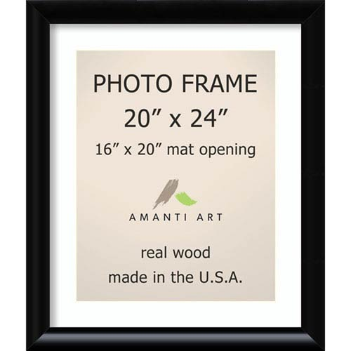 Amanti Art Steinway Black: 23 x 27-Inch Picture Frame