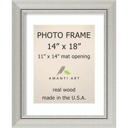 Amanti Art Romano Silver: 18 x 22-Inch Picture Frame