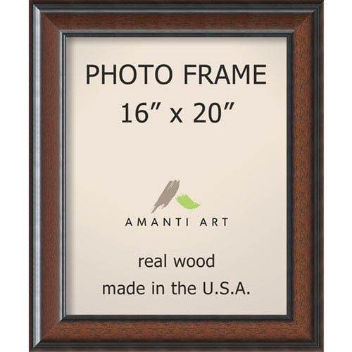 Amanti Art Cyprus Walnut: 21 x 25-Inch Picture Frame