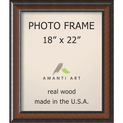 Amanti Art Cyprus Walnut: 23 x 27-Inch Picture Frame