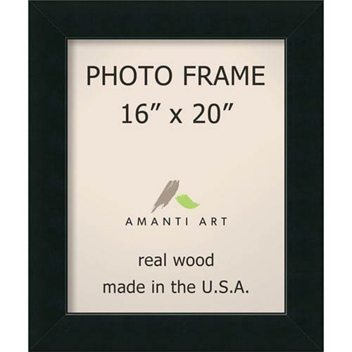 Amanti Art Corvino Black: 21 x 25-Inch Picture Frame