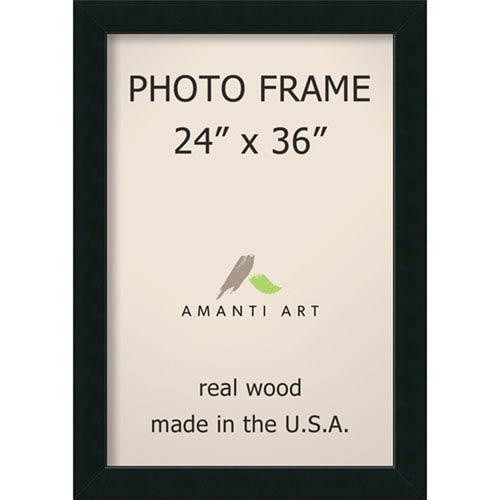 Amanti Art Corvino Black: 29 x 41-Inch Picture Frame