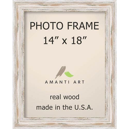 Amanti Art Alexandria White Wash 18 X 22 Inch Picture Frame
