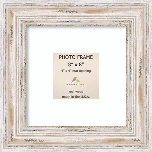 Amanti Art Alexandria White Wash: 12 x 12-Inch Picture Frame