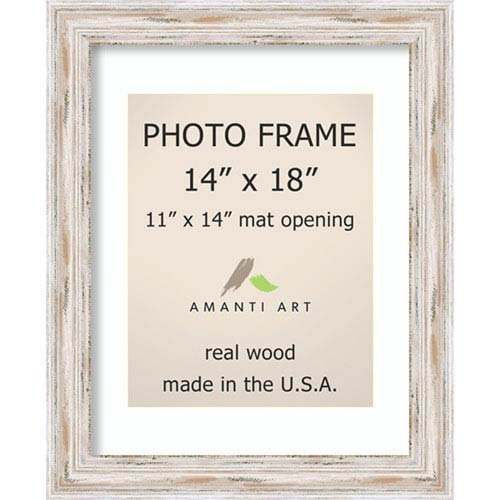 Amanti Art Alexandria White Wash: 18 X 22 Inch Picture Frame ...