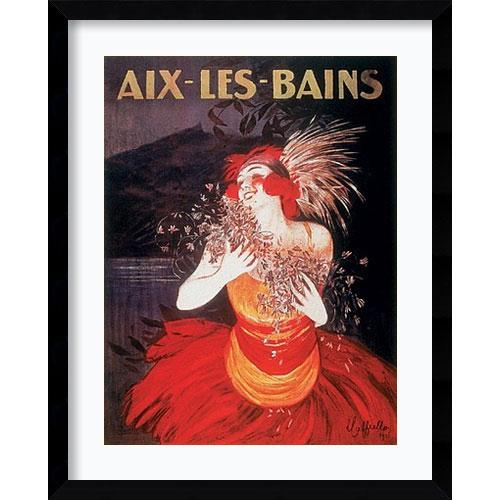 Amanti Art Aix-Les-Bains Framed by Leonetto Cappiello: 32.62 x 40.62 Print Reproduction