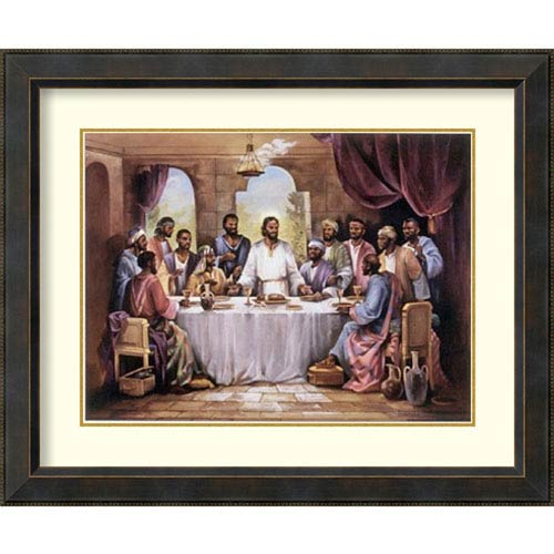 The Last Supper by Quintana: 34 x 28-Inch Framed Art Print