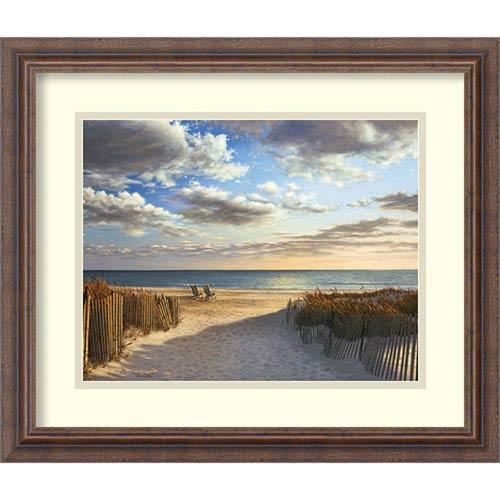 Sunset Beach by Daniel Pollera: 21 x 18-Inch Framed Art Print