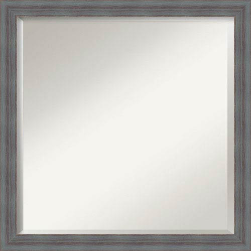 Dixie Grey Rustic Square Mirror: 22 x 22-Inch Wall Mirror