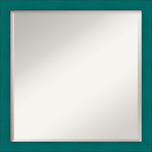 Amanti Art French Teal Rustic Square Mirror 22 X Inch Wall