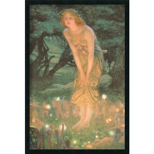 Amanti Art Midsummer Eve by Edward Robert Hughes: 25.4 x 37.4 Print Framed with Gel Coated Finish