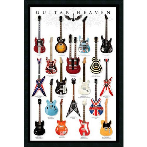 Guitar Heaven: 25.4 x 37.4 Print Framed with Gel Coated Finish