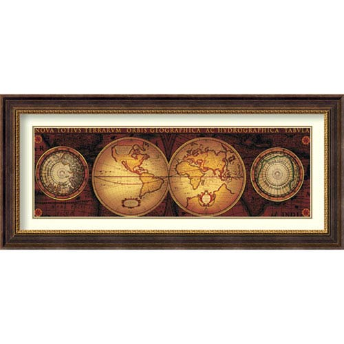 Orbis Geographica 2 By Max Besjana : 45 x 20-Inch