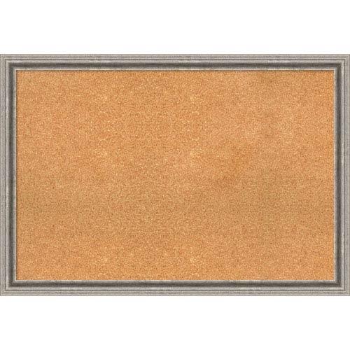 Bel Volto Silver, 39 x 27 In. Framed Cork Board
