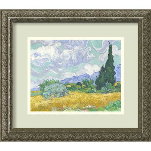 Wheatfield with Cypresses By Vincent van Gogh : 16 x 14-Inch