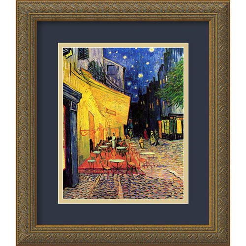 Cafe Terrace At Night 1888 By Vincent van Gogh : 14 x 16-Inch