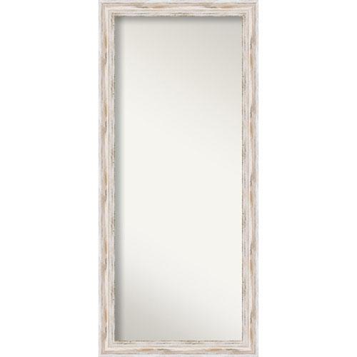 Alexandria 29 x 65-Inch Whitewash Floor Wall Mirror