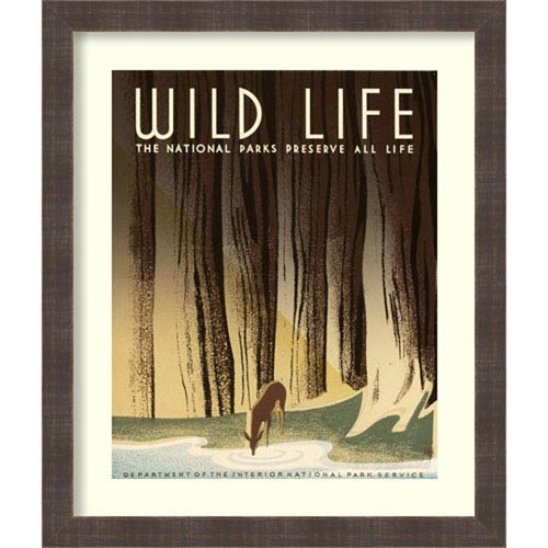 The National Parks Preserve All Life By Frank S. Nicholson : 22 x 26-Inch