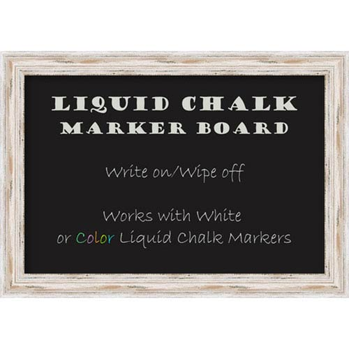 Liquid Chalk Marker Board Medium, Alexandria White Wash: 28 x 20-Inch Message Board