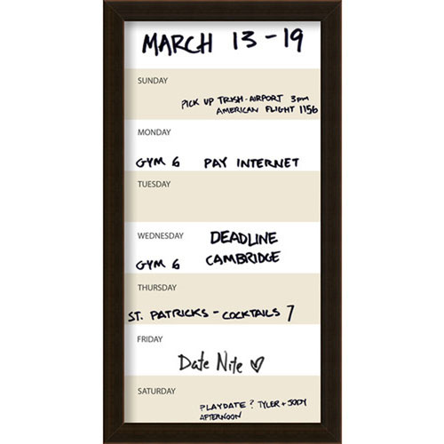 Coffee 14 x 26-Inch Vertical Dry-Erase Week Calendar