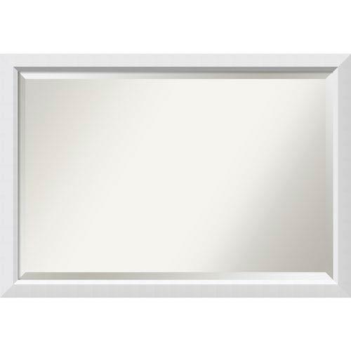 Amanti Art Blanco White, 39 x 27 In. Framed Mirror