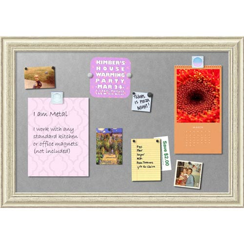 Country White Wash, 41 x 29 In. Framed Magnetic Board