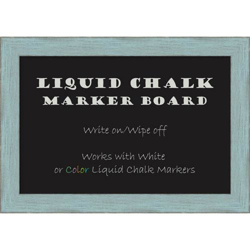 Amanti Art Sky Blue Rustic, 21 x 15 In. Framed Liquid Chalk Board