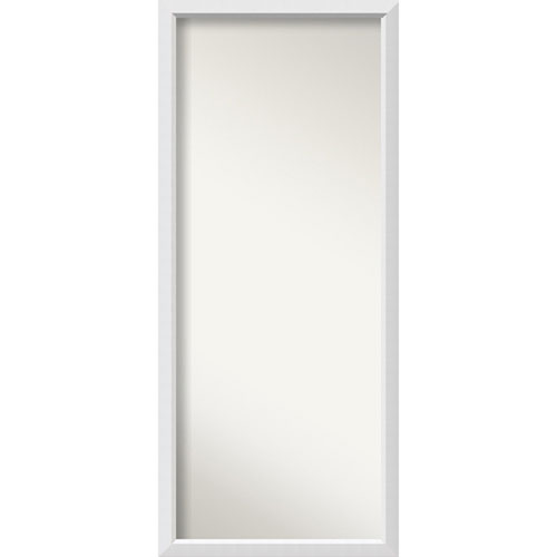 Blanco White Wood: 27 x 63-Inch Floor Mirror