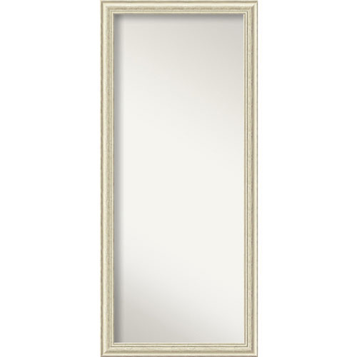 Country White Wash Wood: 29 x 65-Inch Floor Mirror