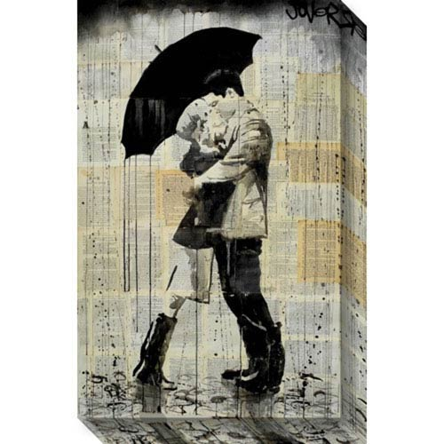 The Black Umbrella by Loui Jover: 15 x 24-Inch Canvas Art