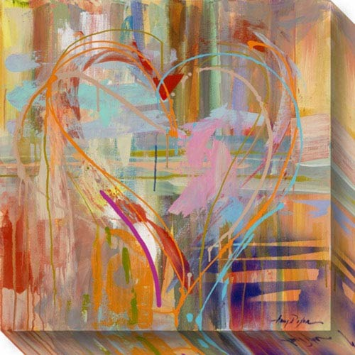 Abstract Heart by Amy Dixon: 20 x 20-Inch Canvas Art