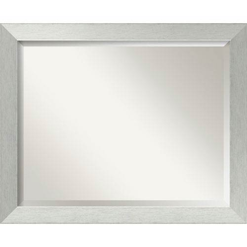 Brushed Silver 32 x 26-Inch Large Vanity Mirror