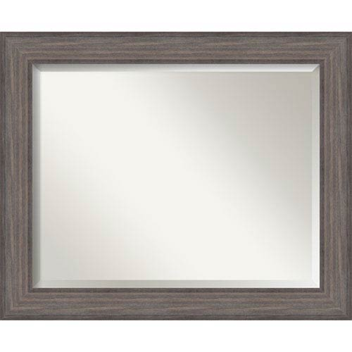 Rustic Gray 33 x 27-Inch Large Vanity Mirror