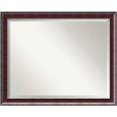 Walnut 31 x 25-Inch Large Vanity Mirror