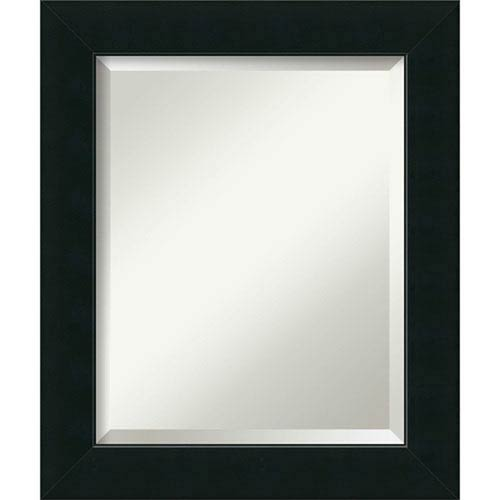 Satin Black 21 x 25-Inch Medium Vanity Mirror
