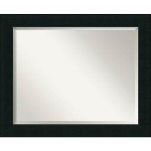 Satin Black 33 x 27-Inch Large Vanity Mirror