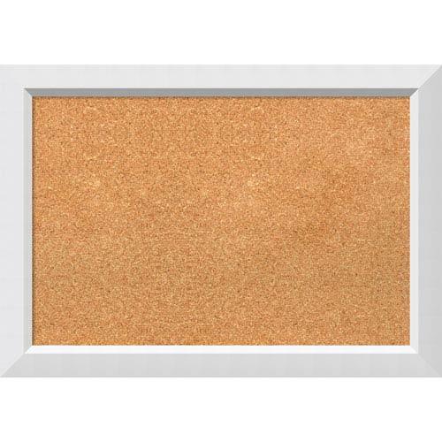 Amanti Art Blanco White, 27 x 19 In. Framed Cork Board