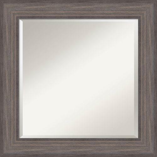 Amanti Art Country Barnwood, 26 x 26 In. Framed Mirror