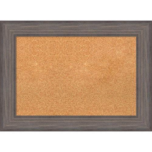Country Barnwood, 30 x 22 In. Framed Cork Board