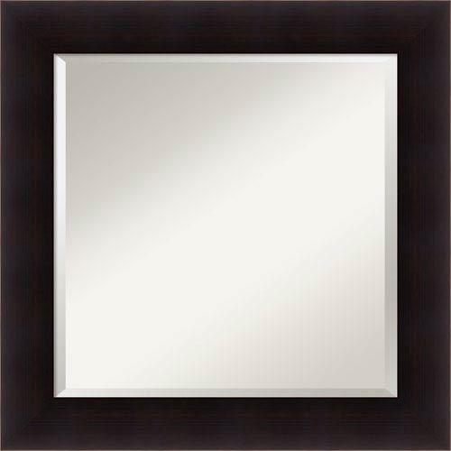 Portico Espresso, 26 x 26 In. Framed Mirror