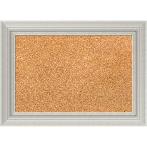 Amanti Art Romano Silver, 22 x 16 In. Framed Cork Board